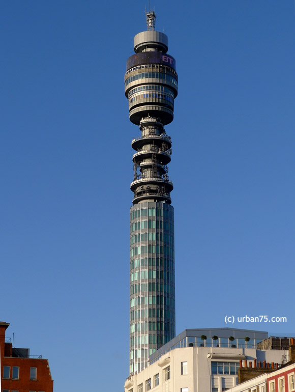 What have they done to the BT Tower in London?
