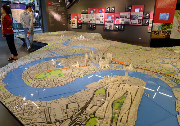 The Building Centre and its mahoosive model of London