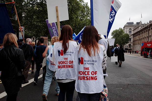 Bursary or Bust - march by student nurses through central London, Saturday 4th June 2016