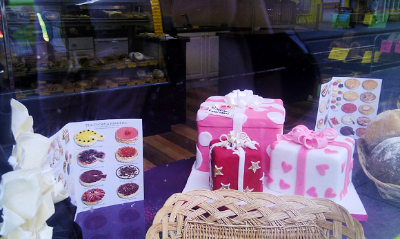 A formidable cake display, Coldharbour Lane, Brixton