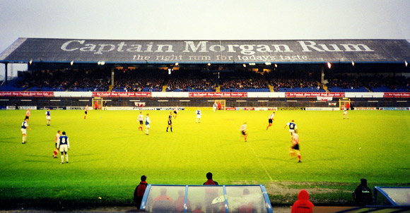 Remembering the Captain Morgan Rum advert, Ninian Park, Cardiff