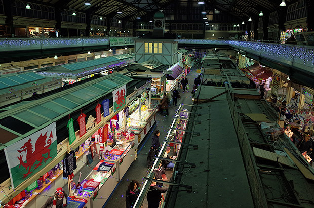 Cardiff Central Market, Victorian indoor market in the Castle Quarter of Cardiff city centre, Wales