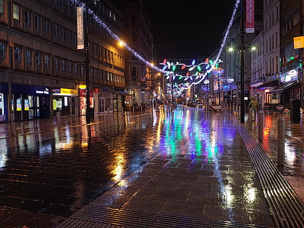 Christmas lights in the November rain, drag queen karaoke and street views - a trip to Cardiff