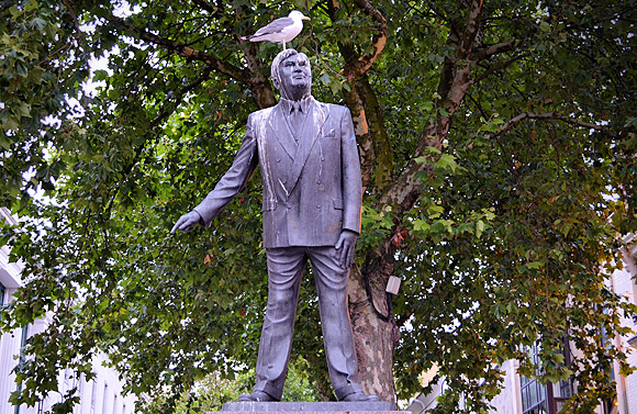 Cardiff overrun with seagulls, not even Aneurin Bevan safe