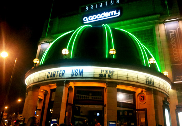 Carter USM in Brixton - gig and after party photos, November 2011