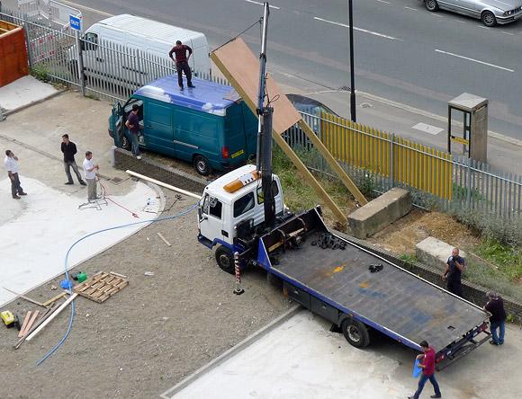Cowboys ahoy! Shoddy workmanship on Coldharbour Lane, Brixton
