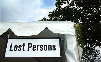 Lost person's tent at Lewisham People's Day