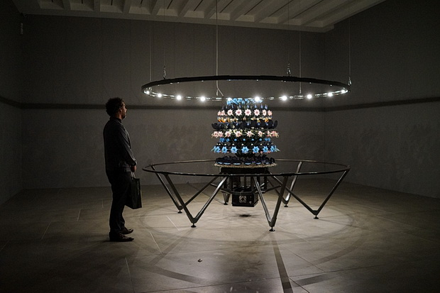 The spinning wonder of The Centrifugal Soul by Mat Collishaw at Blain Southern, London