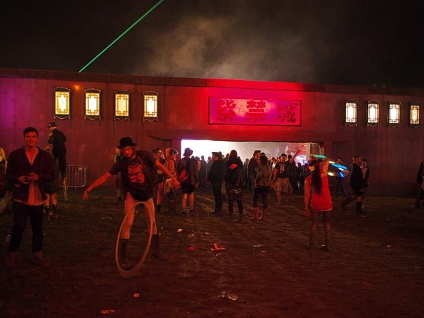 A walk around Chintaown, Boomtown Fair Festival 2015, Winchester, England, UK, August 2015