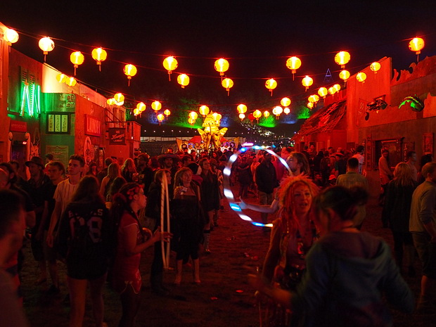 A walk around Chintaown, Boomtown Fair Festival 2015, Winchester, England, UK, August 2015