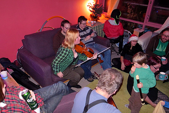Our musical Christmas house party