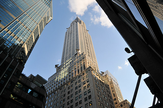 The Art Deco splendour of the stunning Chrysler Building, New York City