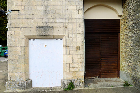 Disused Cirencester Town railway station - Victorian Gothic stuck in a car park