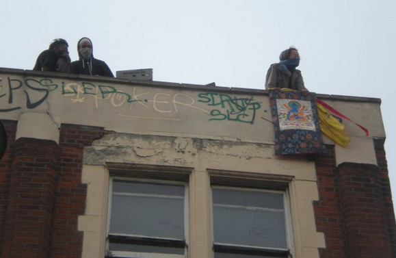 Brixton Clifton Mansions squat: more eviction day photos, July 12th 2011