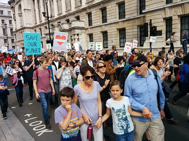 Photos of the People's Climate Change march, Sunday 21st September 2014,  central London