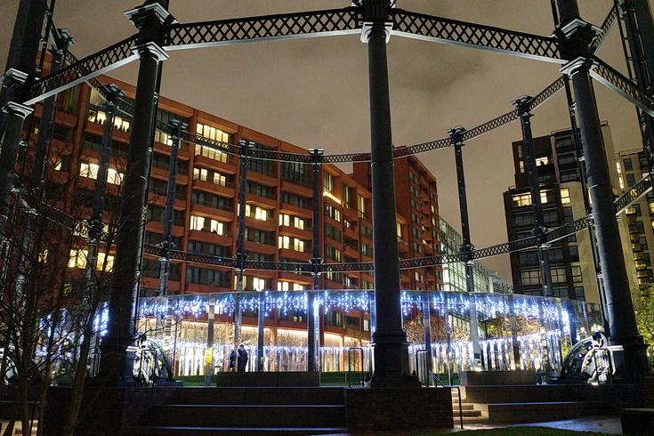 Christmas lights at Coal Drops Yard, Kings Cross