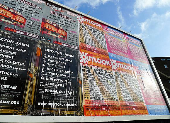 Illegal Coldharbour Lane, Brixton billboard - update