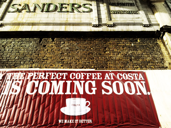 Costa Coffee gets ready to open in Brixton