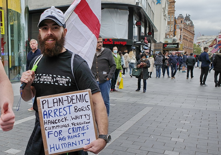 In photos: Covid-19 anti-mask protests, central London, Sat 17th Oct 2020