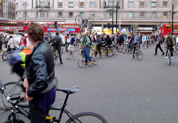 A right royal Critical Mass bike ride, London