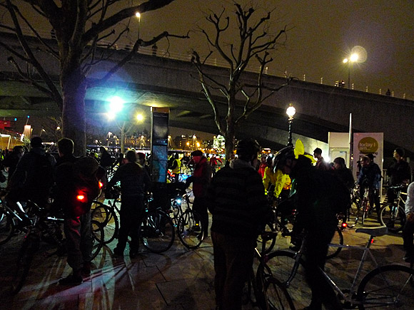 Critical Mass bike ride, London Feb 2011