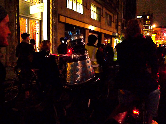 Halloween London Critical Mass ride shows solidarity