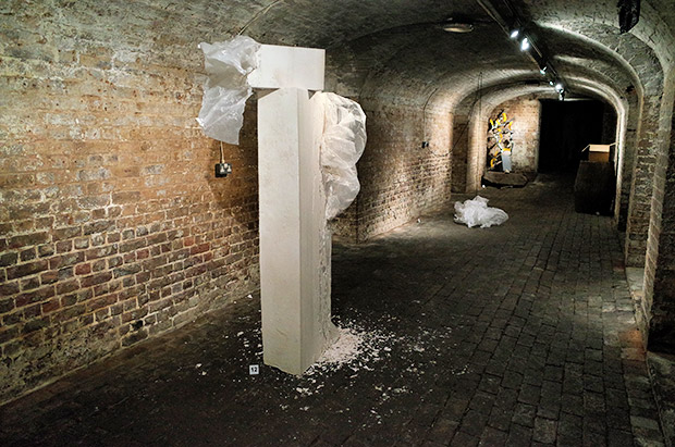Crypt Gallery. St Pancras, ShoShoShow Sculpture Exhibition, July 2014, London
