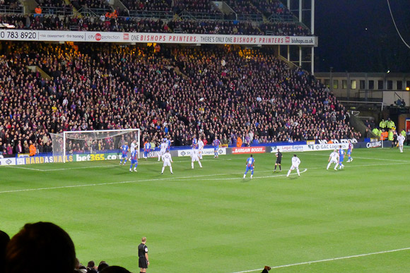 Crystal Palace 1-0 Cardiff City, Carling Cup semi-final at Selhurst Road, Tuesday, 10 January 2012