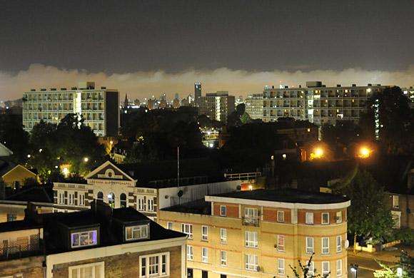 A curious night sky over London