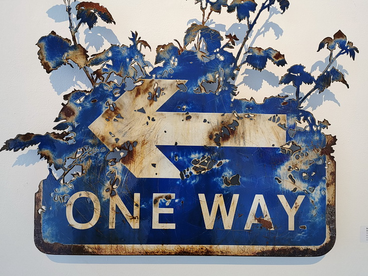 Art: stunning reworked road signs by Dan Rawlings at the StolenSpace Gallery, Shoreditch