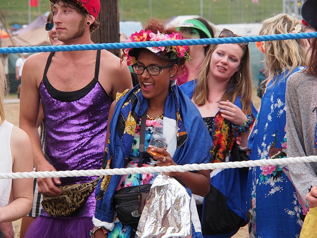 Dance Off at the Bario Loco, Boomtown Fair 2015, August 2015