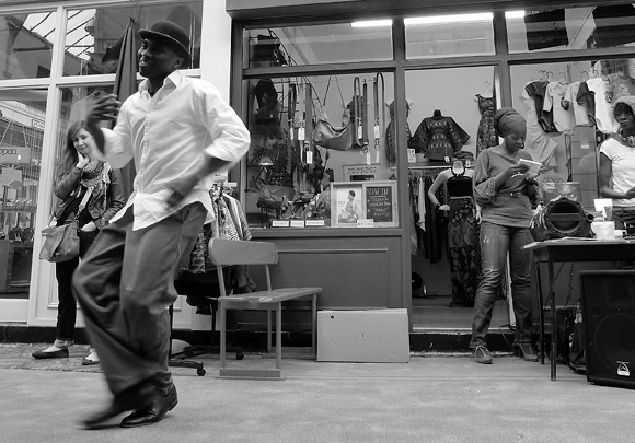 Street dancer, Brixton Village, SW9