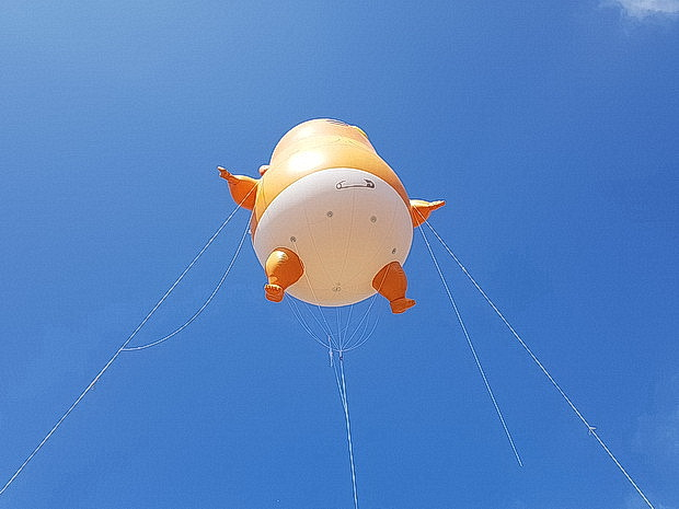 Donald Trump blimp rises into the London skies, Friday 13th July 2018