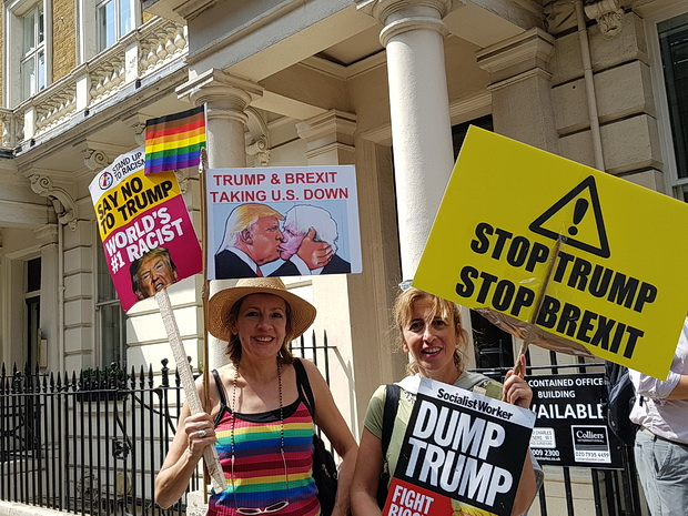 Donald Trump protest: Londoners come out in force with hilarious banners, Friday 13th July 2018