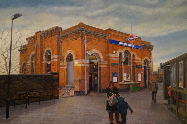 Doreen Fletcher's incredible East London street views at the Nunnery Gallery, London E3, Feb 2019