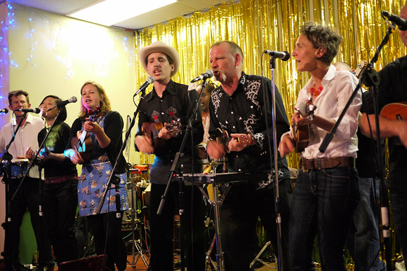 Dulwich Ukulele Club May Ball at St. Thomas More hall, 116a Lordship Lane East Dulwich, 7th May 2011