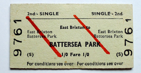 East Brixton station to Battersea, 3rd October 1969