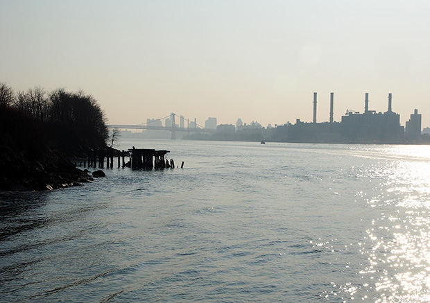 A trip on NY Waterway's East River Ferry from Williamsburg to E 34th St, New York