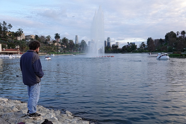In photos: Echo Park, Los Angeles in the dying light of day