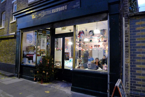 Electric Elephant Cafe Gallery, betwixt Kennington and Elephant and Castle, London