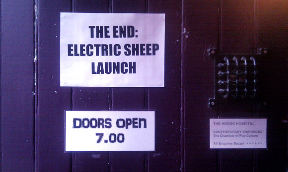 Electric Sheep book launch at the Horse Hospital, London