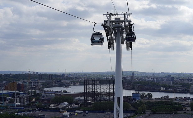 Cable car across London - a return to the Emirates Air Line in East London, June 2016