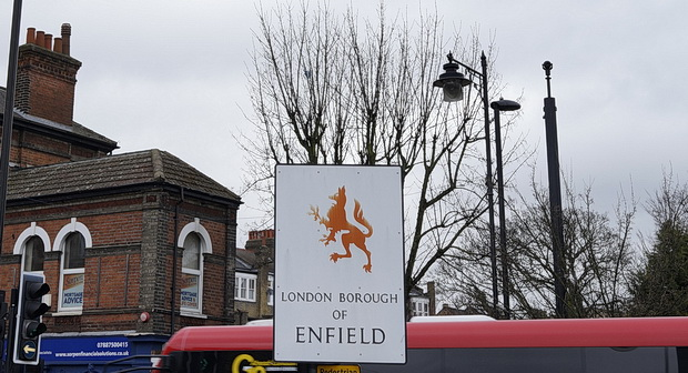 In photos: a walk around Enfield, north London, March 2016