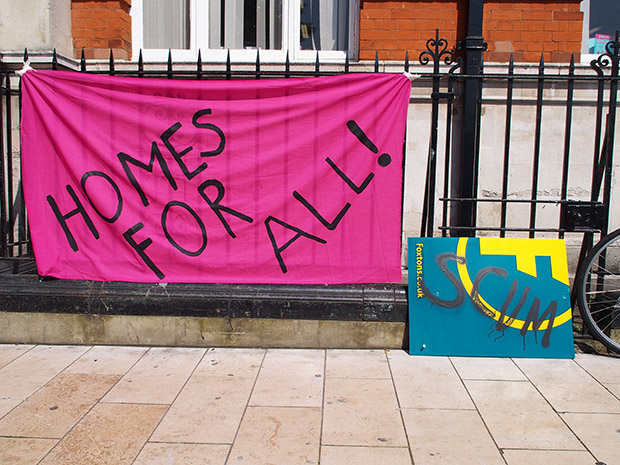 Eviction Brixton rally in Windrush Square: Rushcroft Road community fights for the right to stay