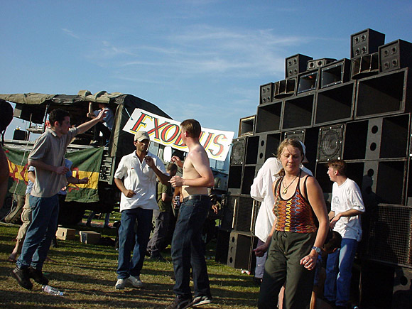 Exodus sound system at Hackney, Aug 2000