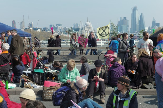 Extinction Rebellion direct action protests in central London, 15th April 2019 - photos