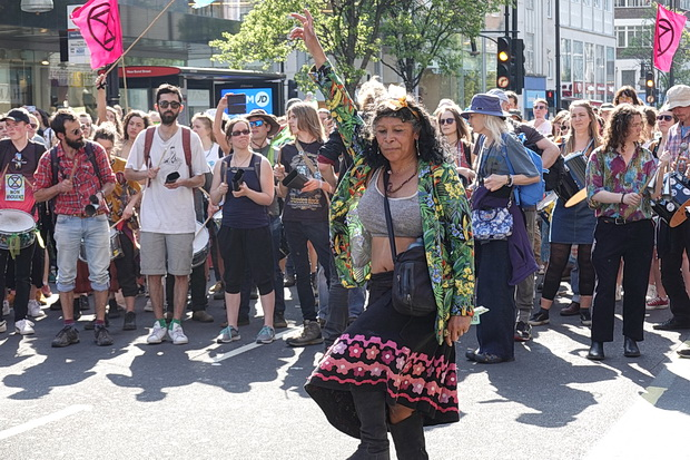 In photos: Extinction Rebellion protests at Oxford Circus, Marble Arch and Waterloo Bridge, Friday 19th April 2019