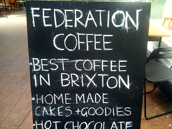 Federation Coffee, Brixton - London's finest coffee?