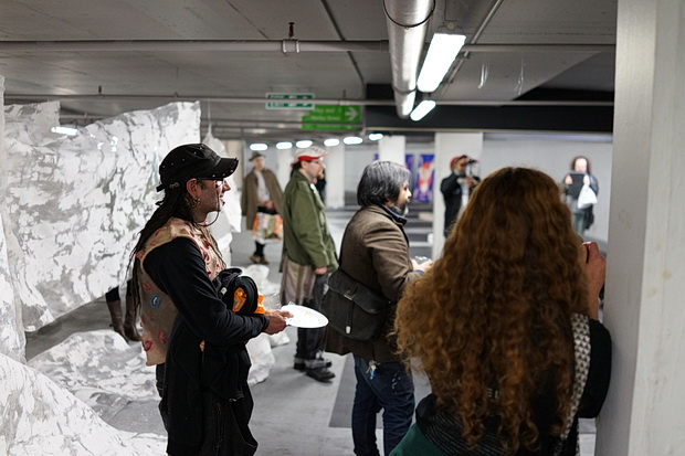 In photos: The Crash art show in the Q Park underground car park, London, October 2017