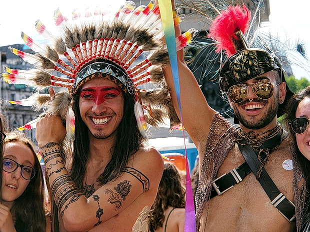 London Gay Pride 2017: faces, street scenes and smoke bombs, Saturday 8th July 2017